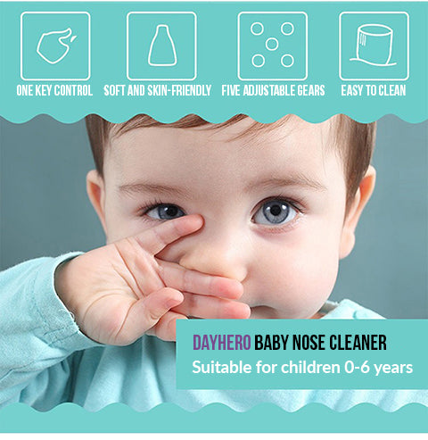 Safe and Rechargeable DayHero Baby Nose Cleaner [2018 BestSeller, 50% OFF Promotion]