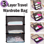 Dayhero 3-Layer Portable Travel Wardrobe Bag - Save Time & Space [Best Travel Organizer in 2018, 52% OFF Promotion]