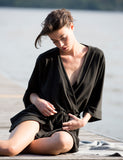 The Black Wanderlust Robe