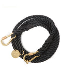 Black Rope Dog Leash