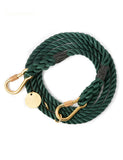 Hunter Green Rope Dog Leash