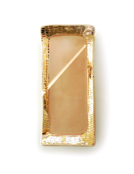 Peach + Gold Tray