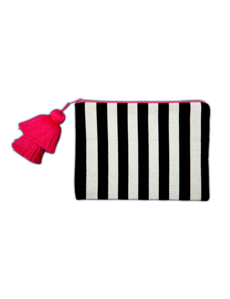 Small Pima Cotton Tassel Pouch