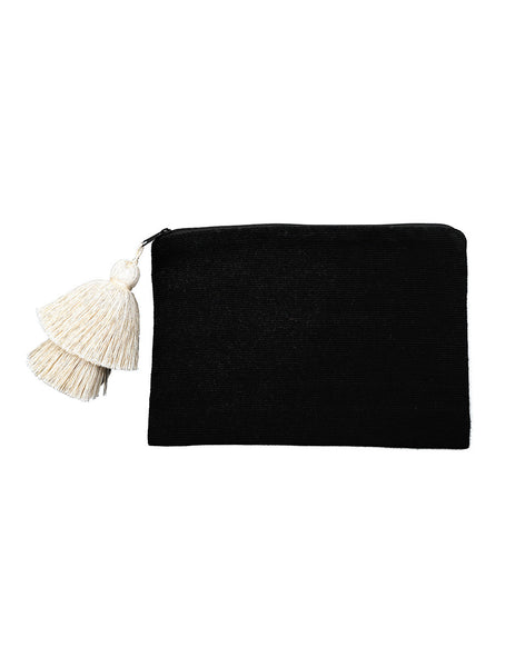 Large Pima Cotton Tassel Pouch