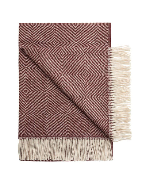 The Wanderlust Blanket - Plum Motif