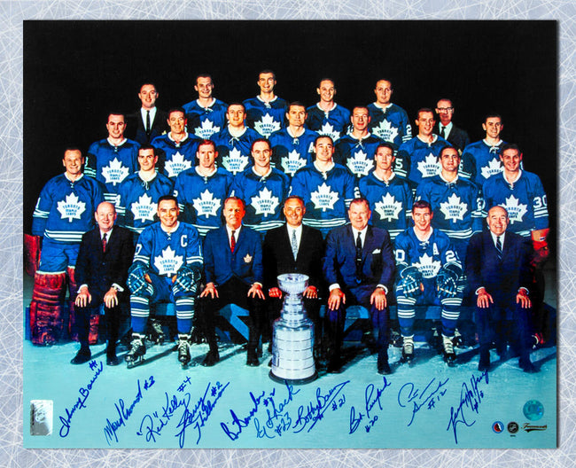 80572102e 1967 Toronto Maple Leafs Stanley Cup Team 10 player signed 16x20 Photo