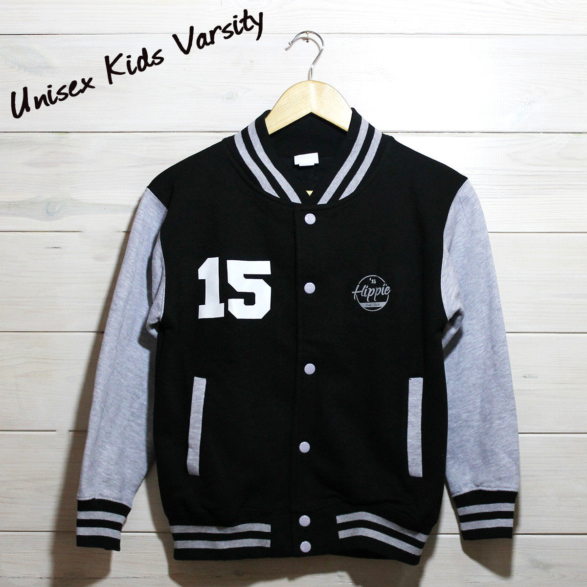 Kids Hippie 15 Logo Varsity Jacket