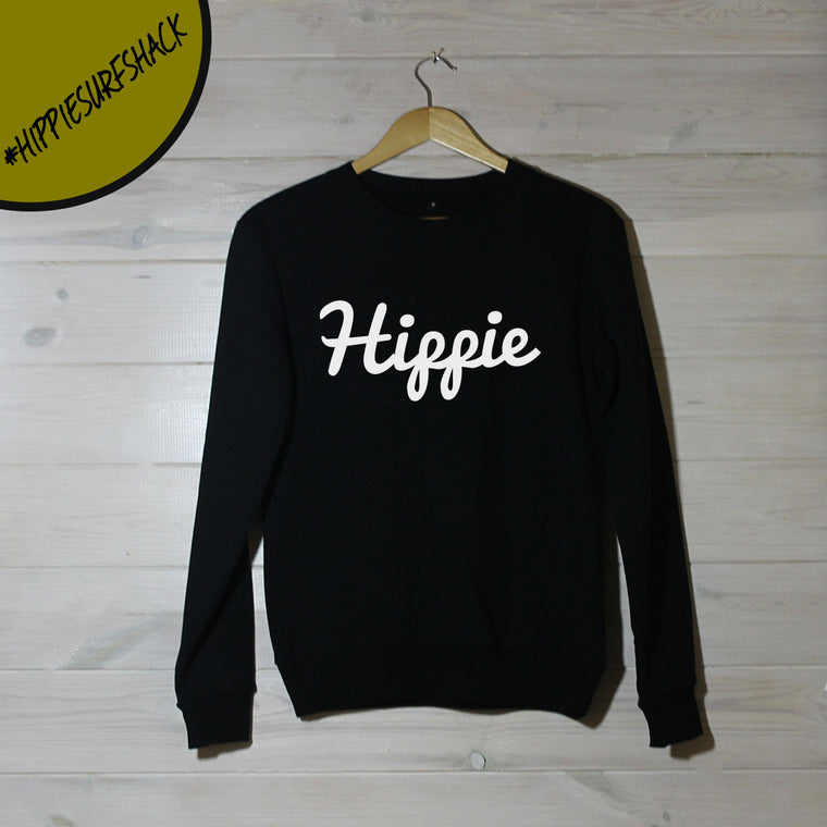 Mens White Hippie Logo Sweatshirt