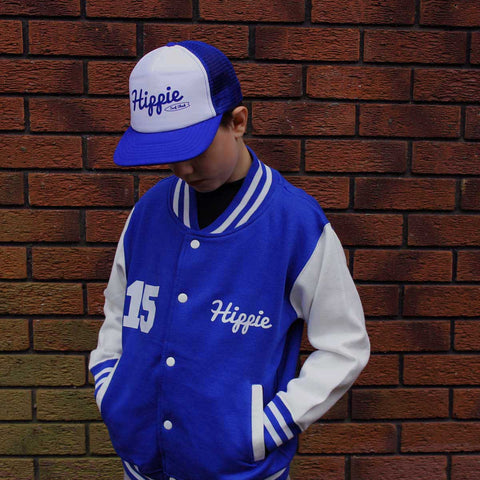 Kids Hippie Logo Varsity Jacket