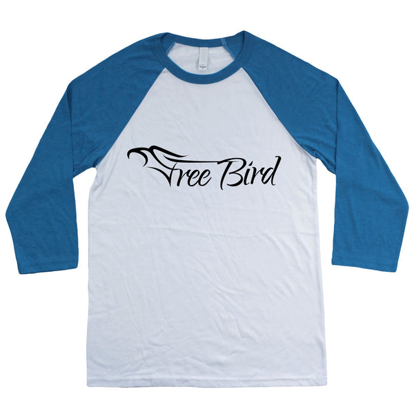 Free Bird 3/4 Sleeve Baseball T-Shirt