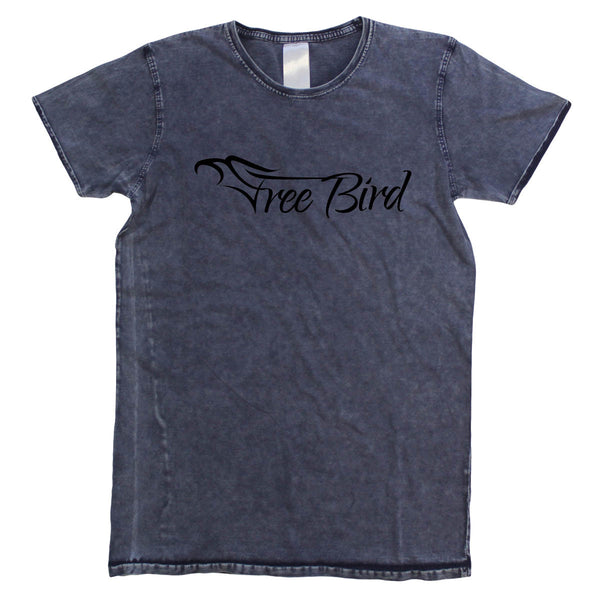 Mens Free Bird Denim Tee