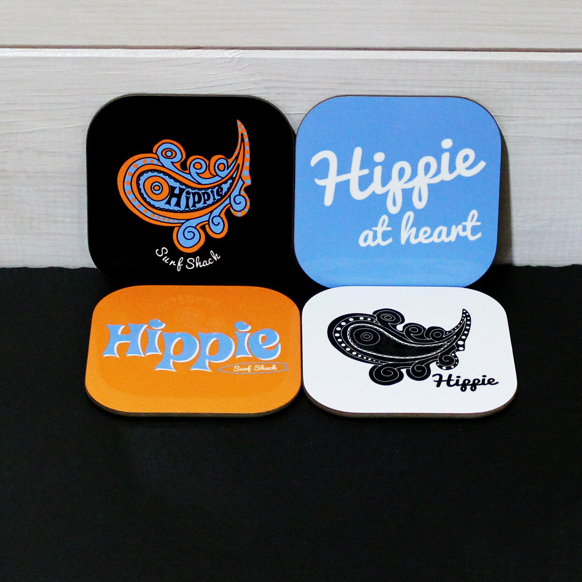 Hippie Surf Shack' Drink Coasters