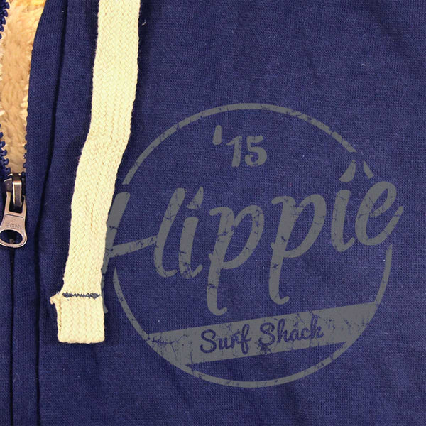 Hippie 15 Sherpa Lined Zip Up Hoodie