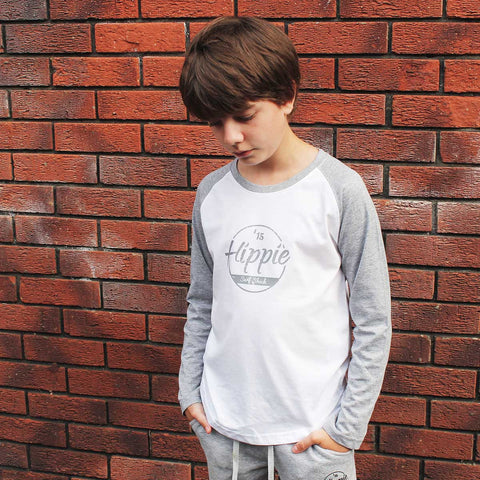 Kids Skinnifit Hippie 15 Long Sleeve Baseball T-Shirt