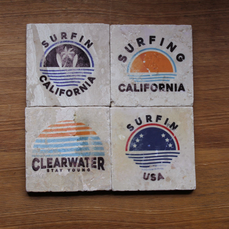 Surfin California Coaster Set