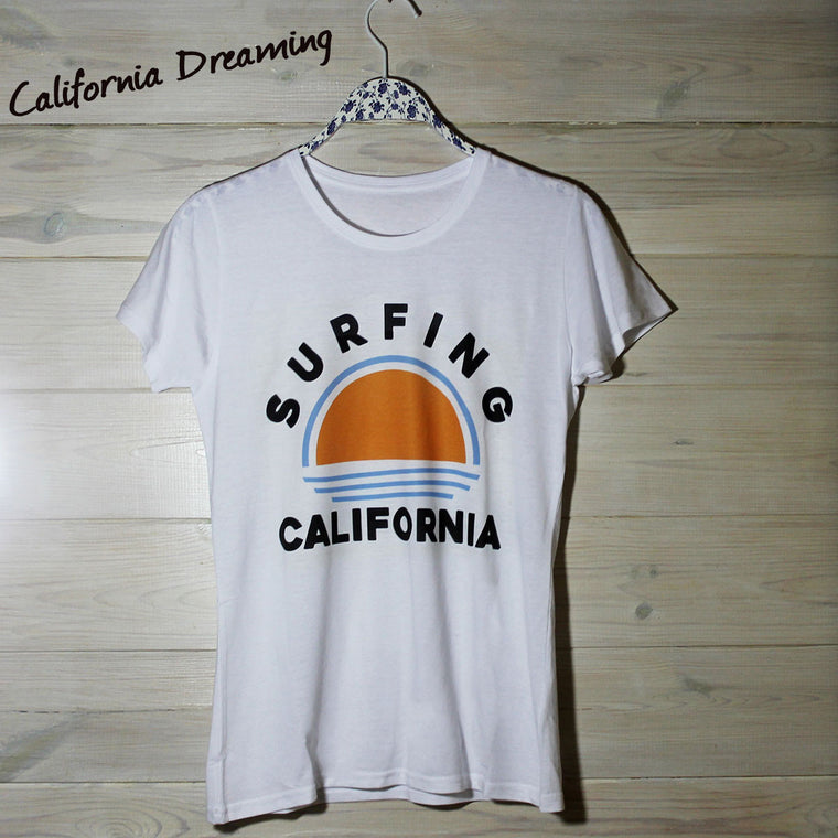 Womens Surfing California Tee