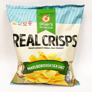 Oliver's Real Crisps - Sea Salt - 100gm (Box of 14)
