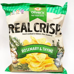 Oliver's Real Crisps - Rosemary & Thyme - 100gm (Box of 14)