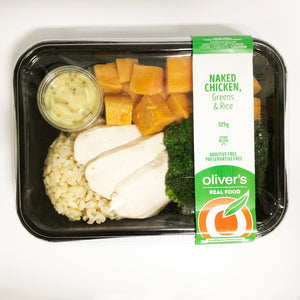 Naked Chicken, Greens + Rice 300g (1 Unit)