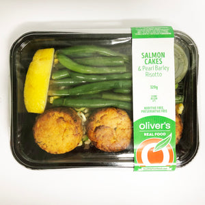 Salmon Cakes + Pearl Barley Risotto 300g (1 Unit)
