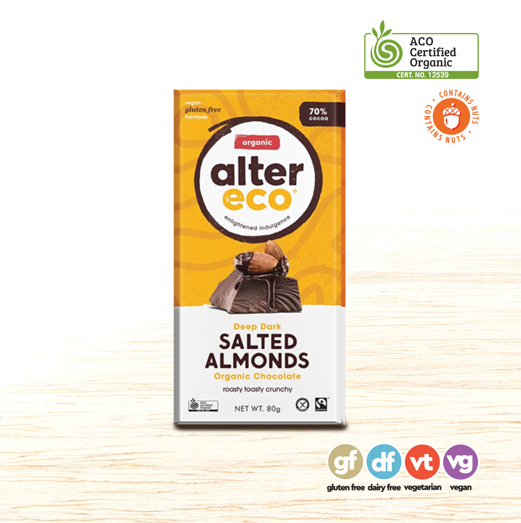 Alter Eco Chocolate - Salted Almonds