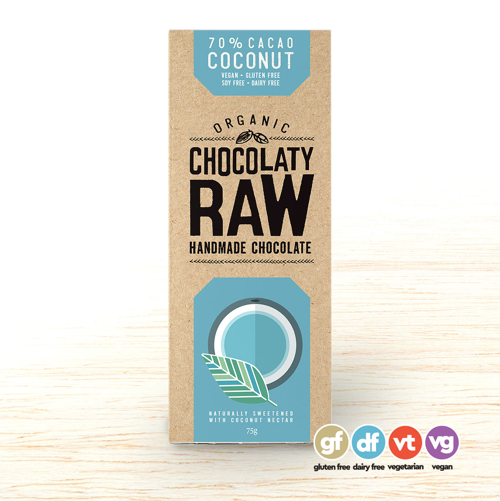 Chocolatey Raw Bar Coconut