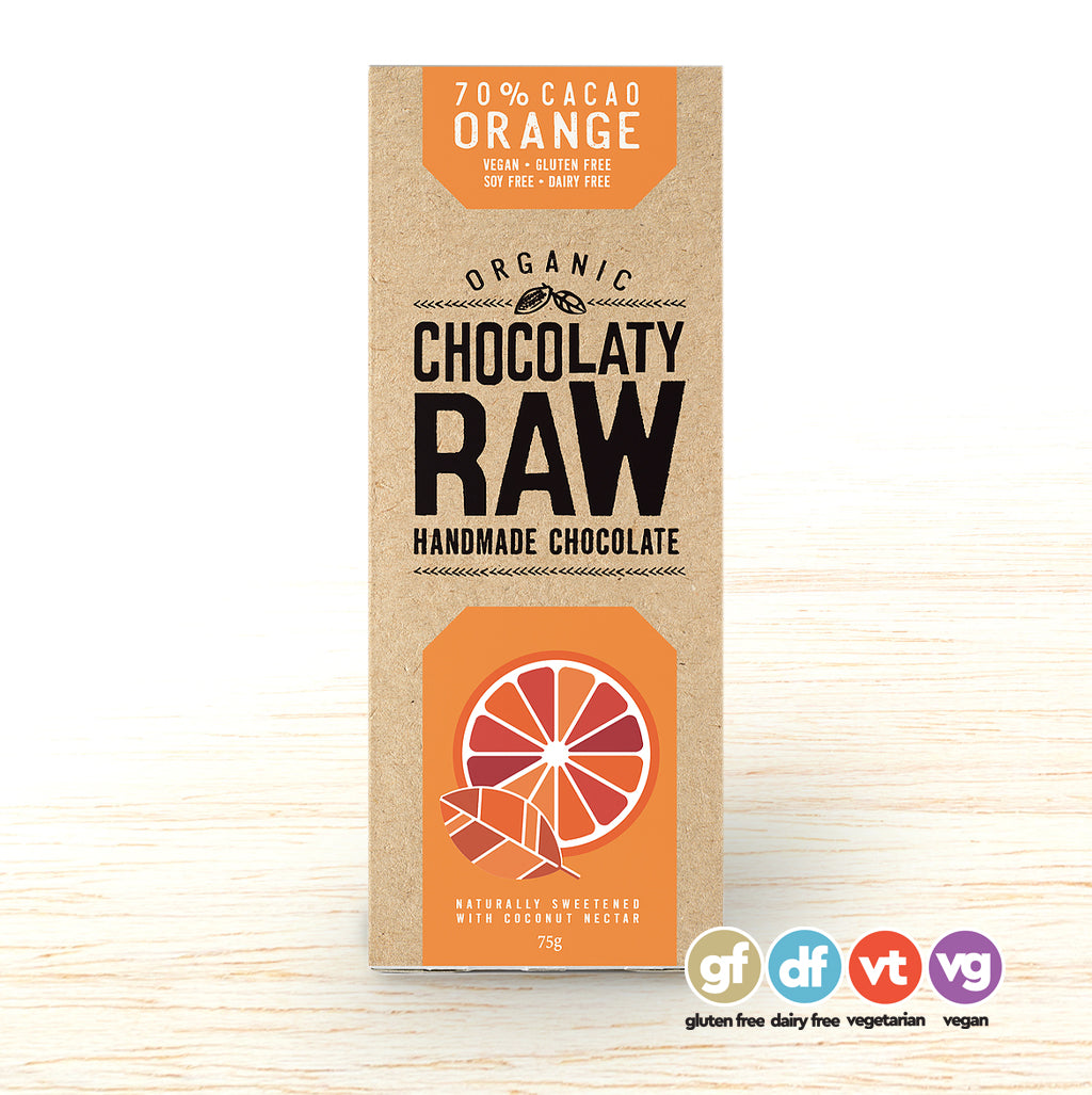 Chocolatey Raw Bar Orange