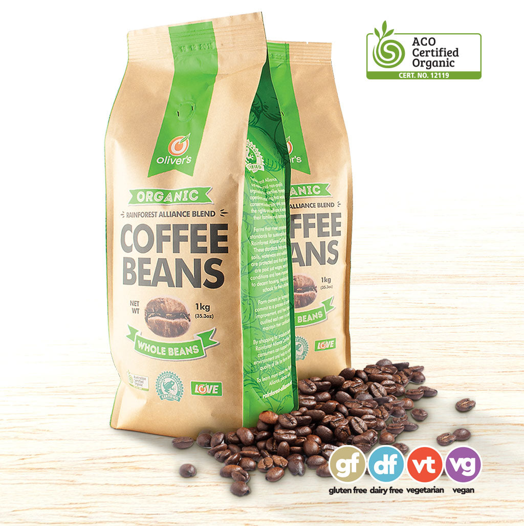 Oliver's Organic Arabica Coffee Beans - Organic Food Delivered - Oliver's Real Food