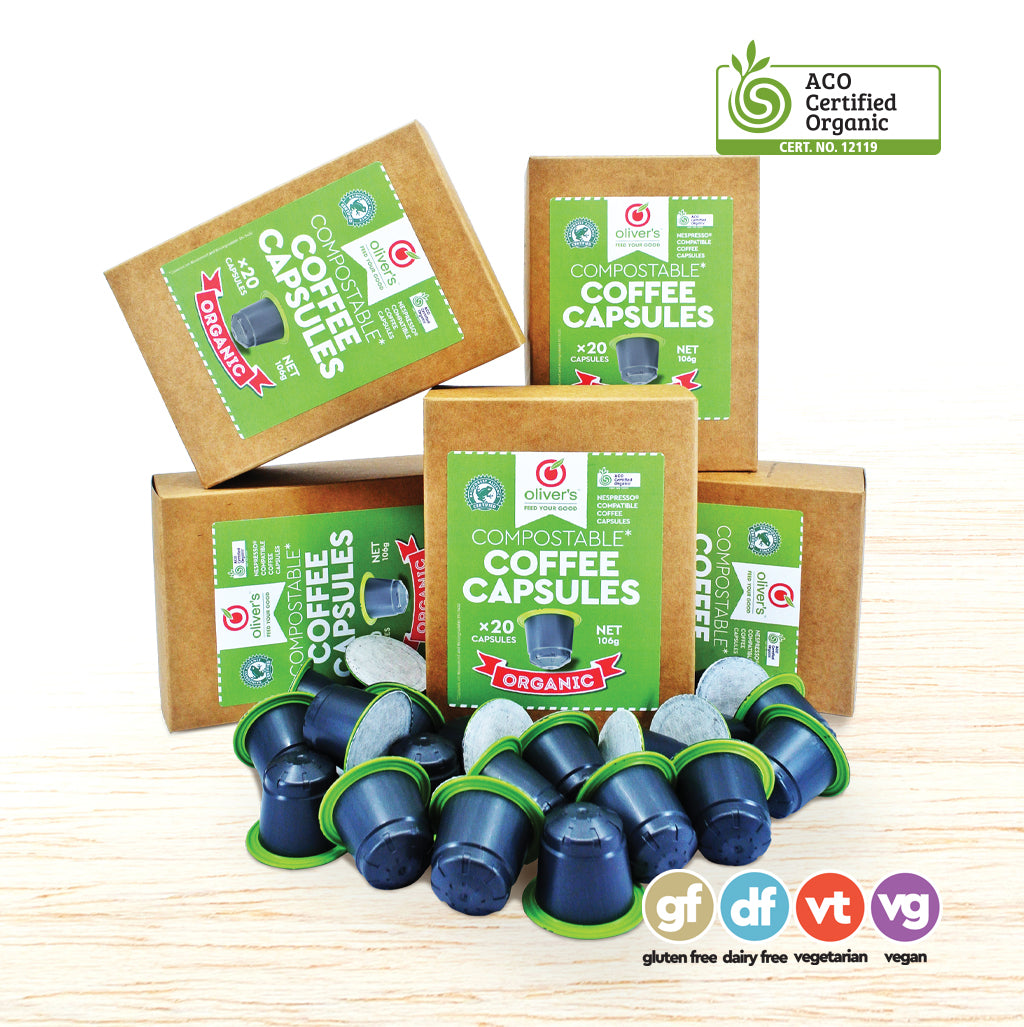 Coffee Capsules - Organic Biodegradable - 100 Pods