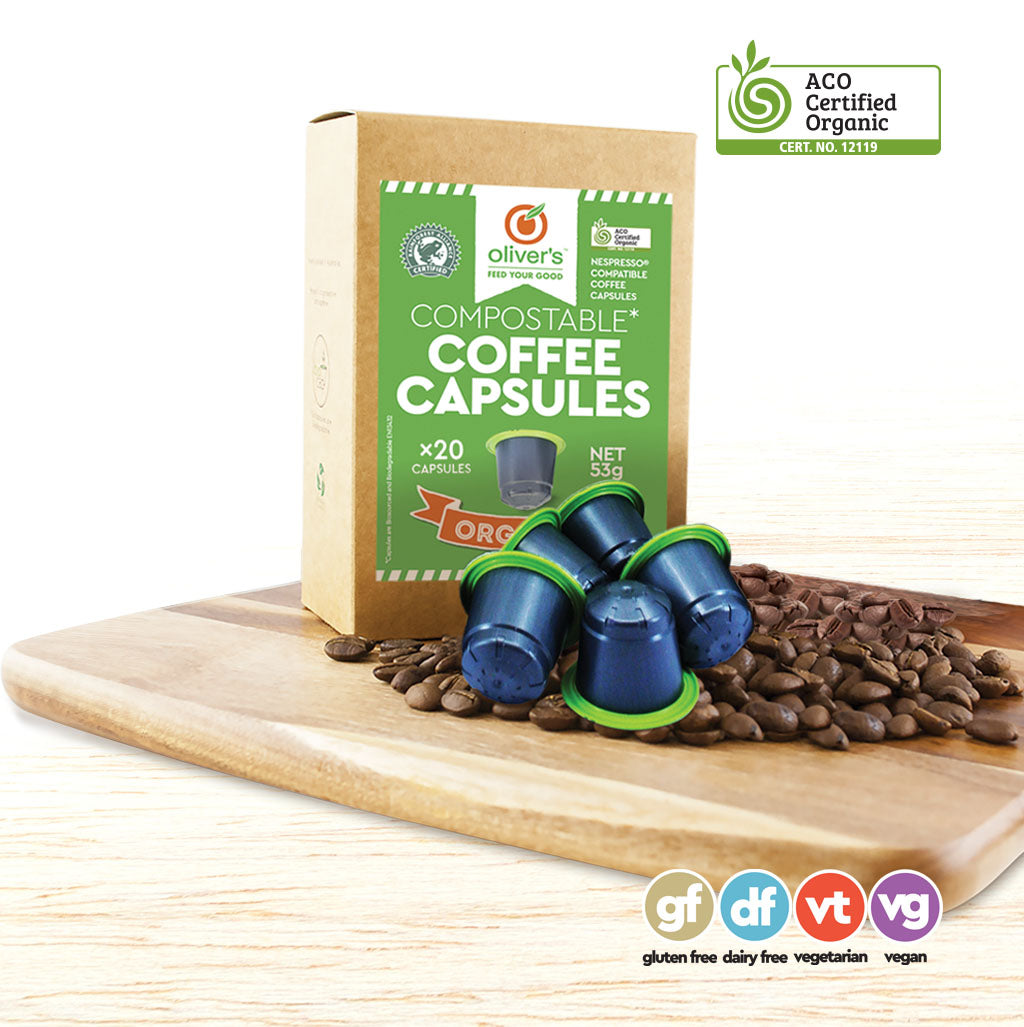 Coffee Capsules - Organic Biodegradable - 20 Pods