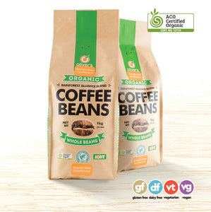 Oliver's Organic Decaffeinated Arabica Coffee Beans - Organic Food Delivered - Oliver's Real Food