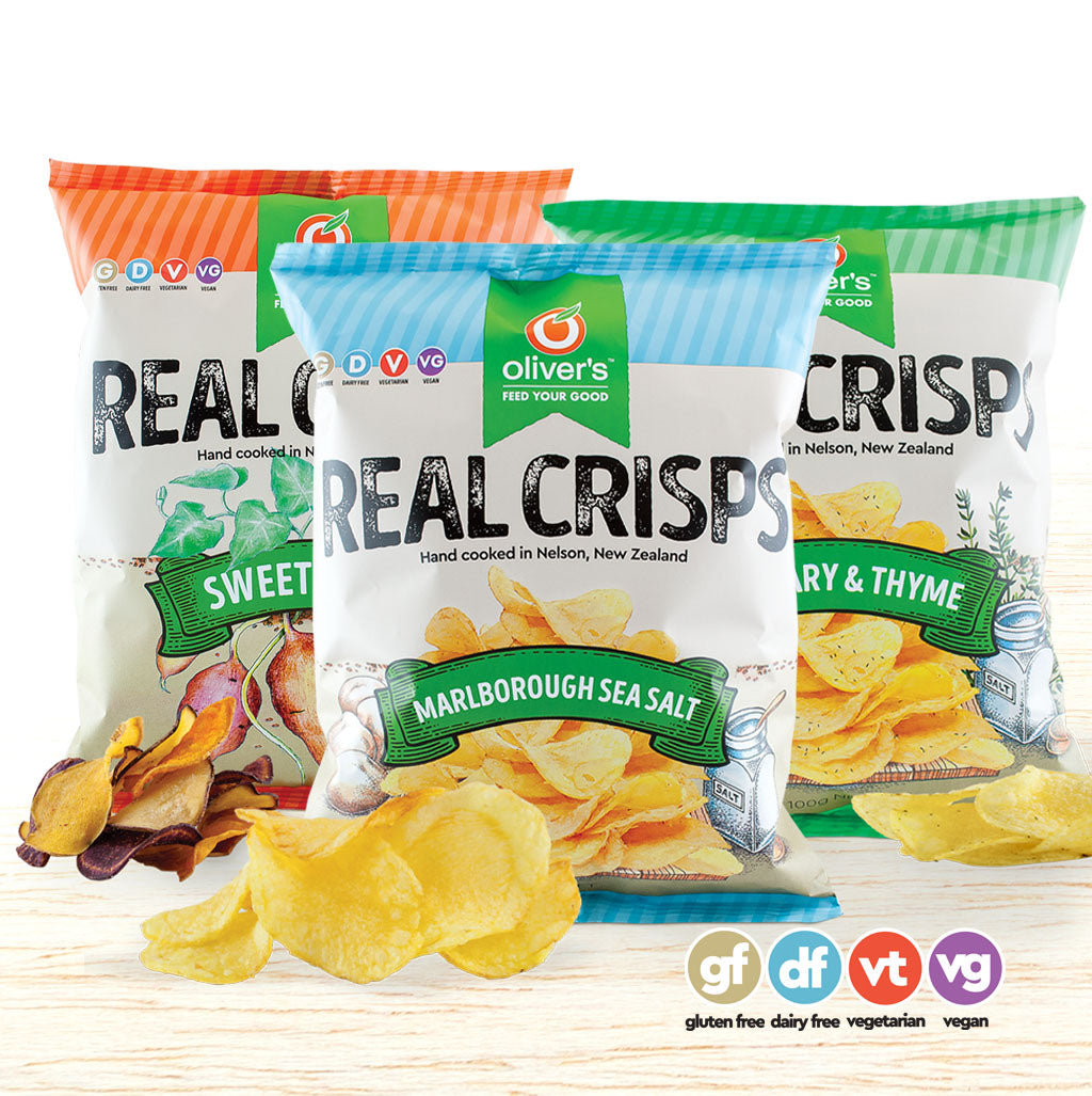 Oliver's Real Crisps - Box of 14 - Organic Food Delivered - Oliver's Real Food