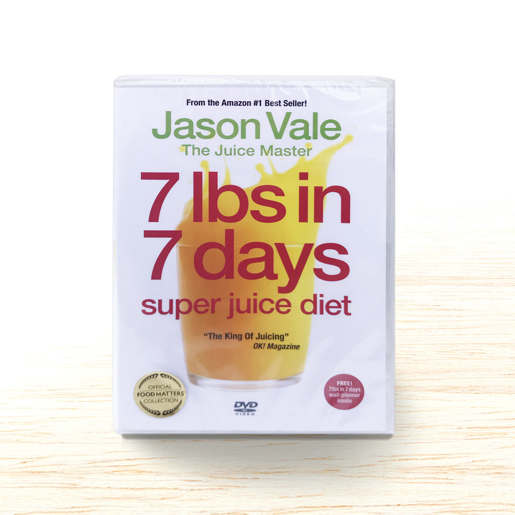 7 lbs in 7 Days - Super Juice Diet DVD - Jason Vale - Organic Food Delivered - Oliver's Real Food