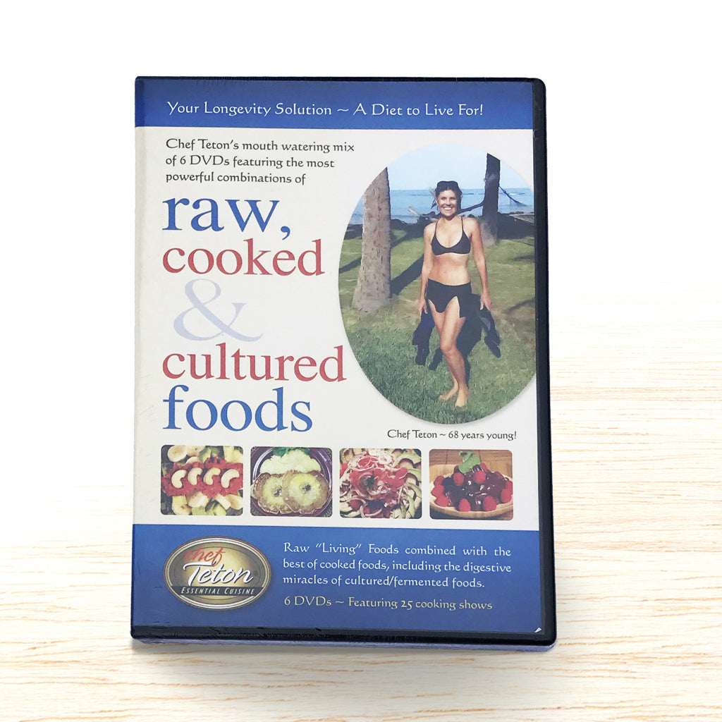 Raw, Cooked & Cultured Foods DVD - Chef Teton - Organic Food Delivered - Oliver's Real Food