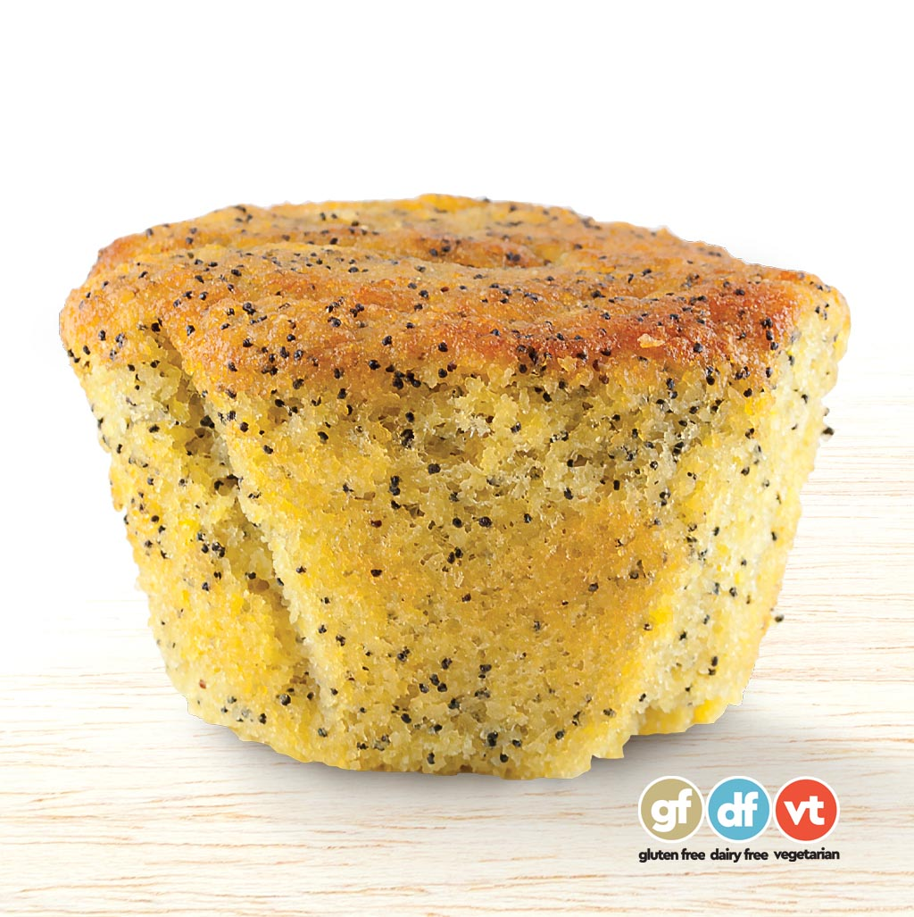 Gluten-free Orange and Poppyseed Muffin
