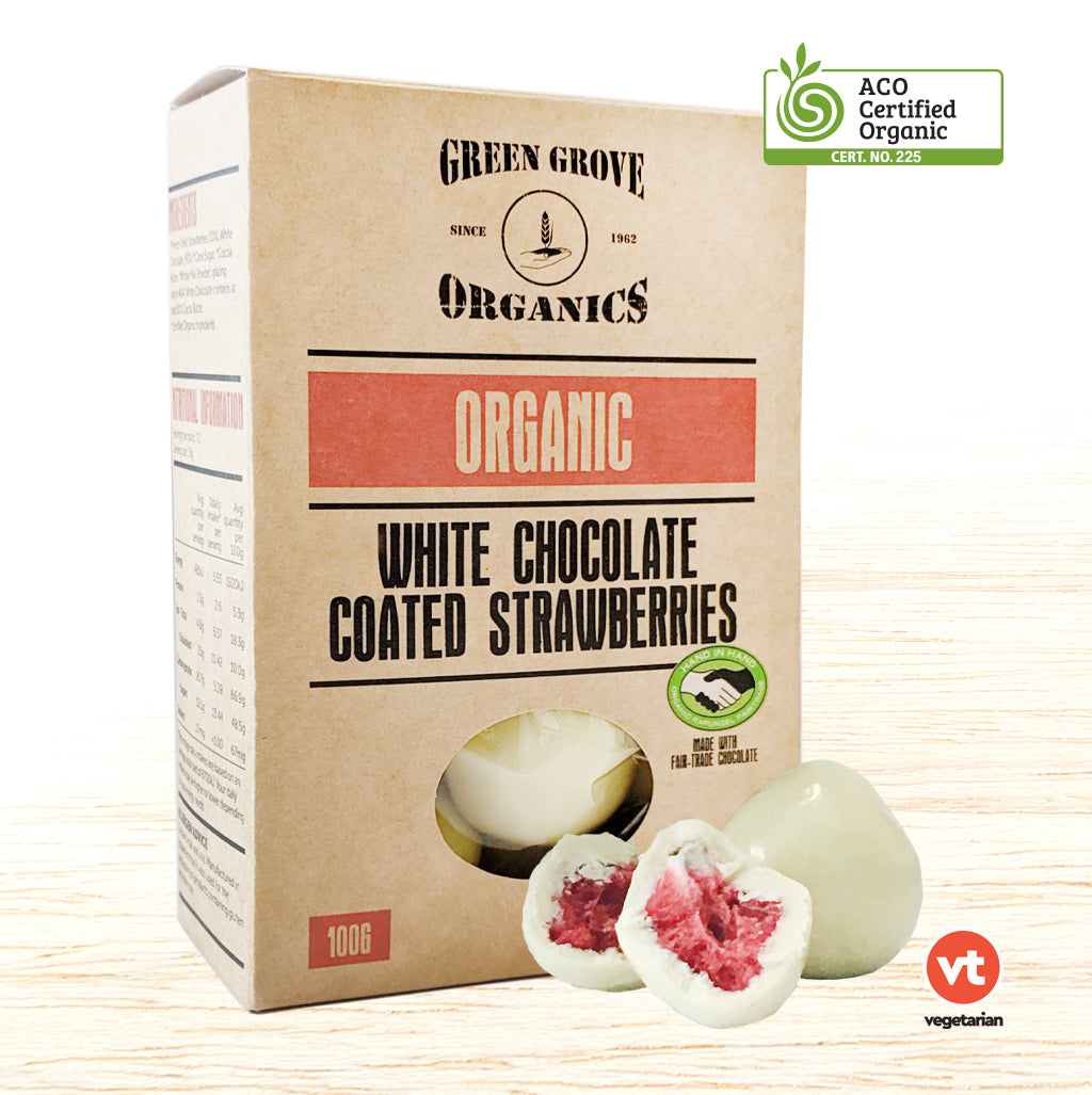 Chocolate - Organic White Chocolate Strawberries