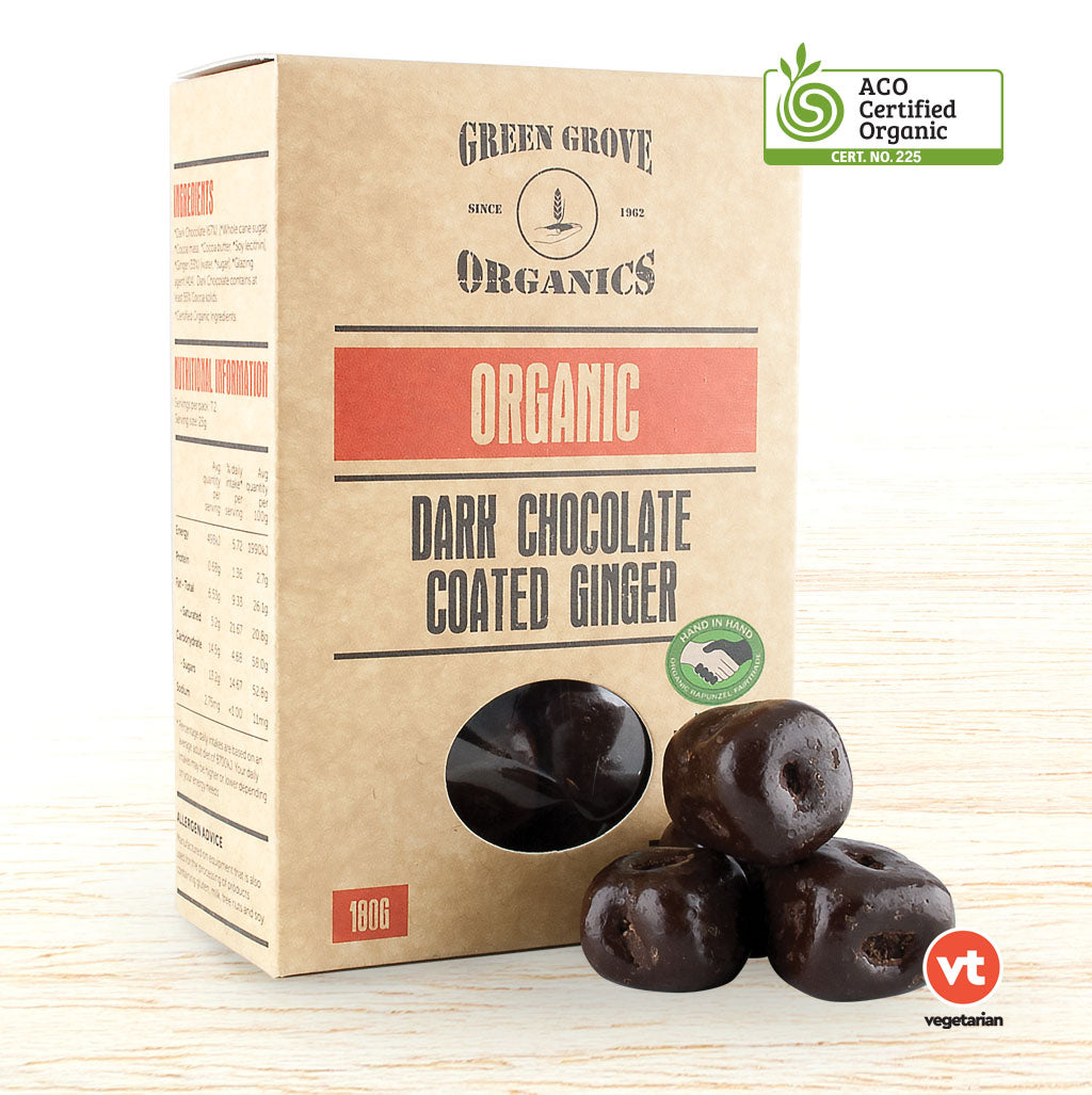 Green Grove Organic Dark Chocolate Ginger - Organic Food Delivered - Oliver's Real Food