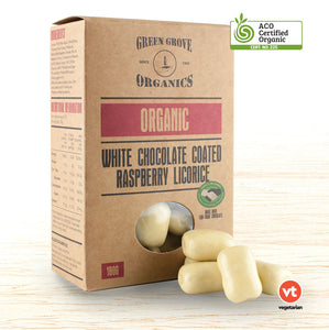 Green Grove Organic White Chocolate Raspberry Licorice - Organic Food Delivered - Oliver's Real Food