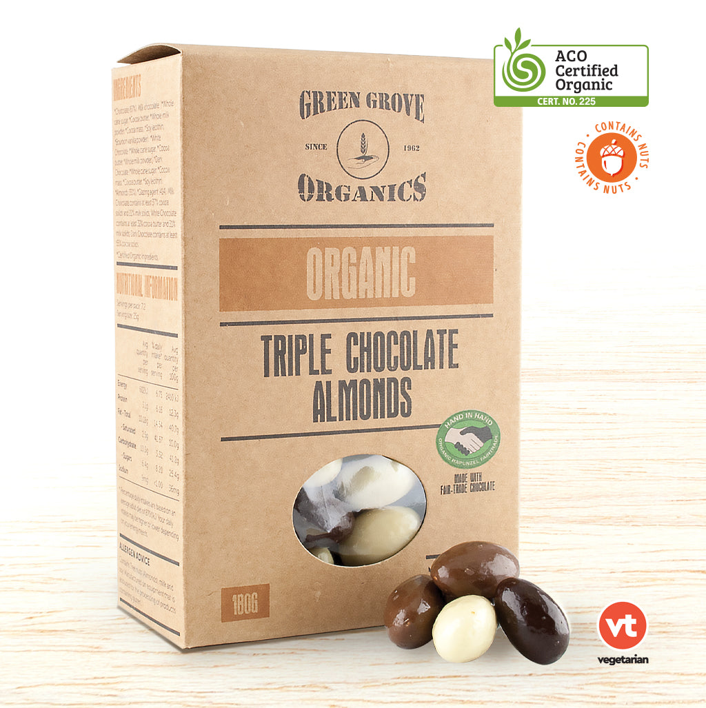 Chocolate - Organic Triple Chocolate Almonds