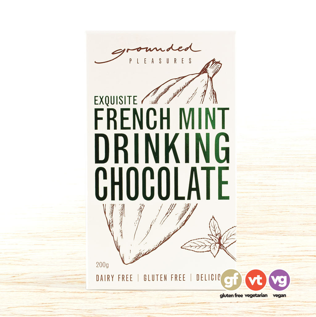 Grounded Pleasures Drinking Chocolate - French Mint - Organic Food Delivered - Oliver's Real Food