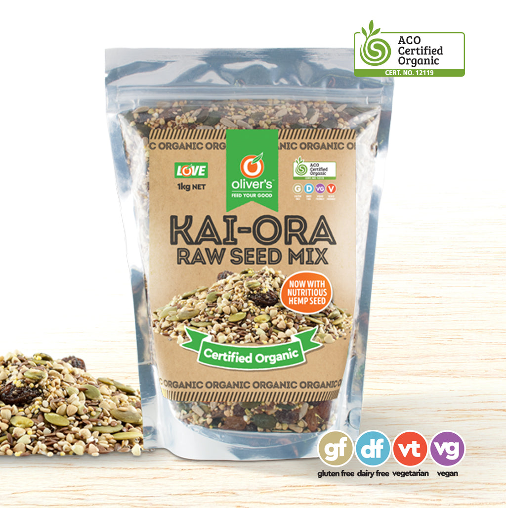 Oliver's Raw Organic Kai-Ora Seed Muesli Mix - Organic Food Delivered - Oliver's Real Food