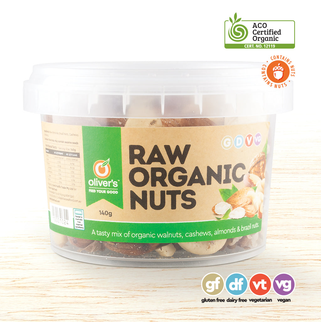 Raw Organic Nuts - Organic Food Delivered - Oliver's Real Food