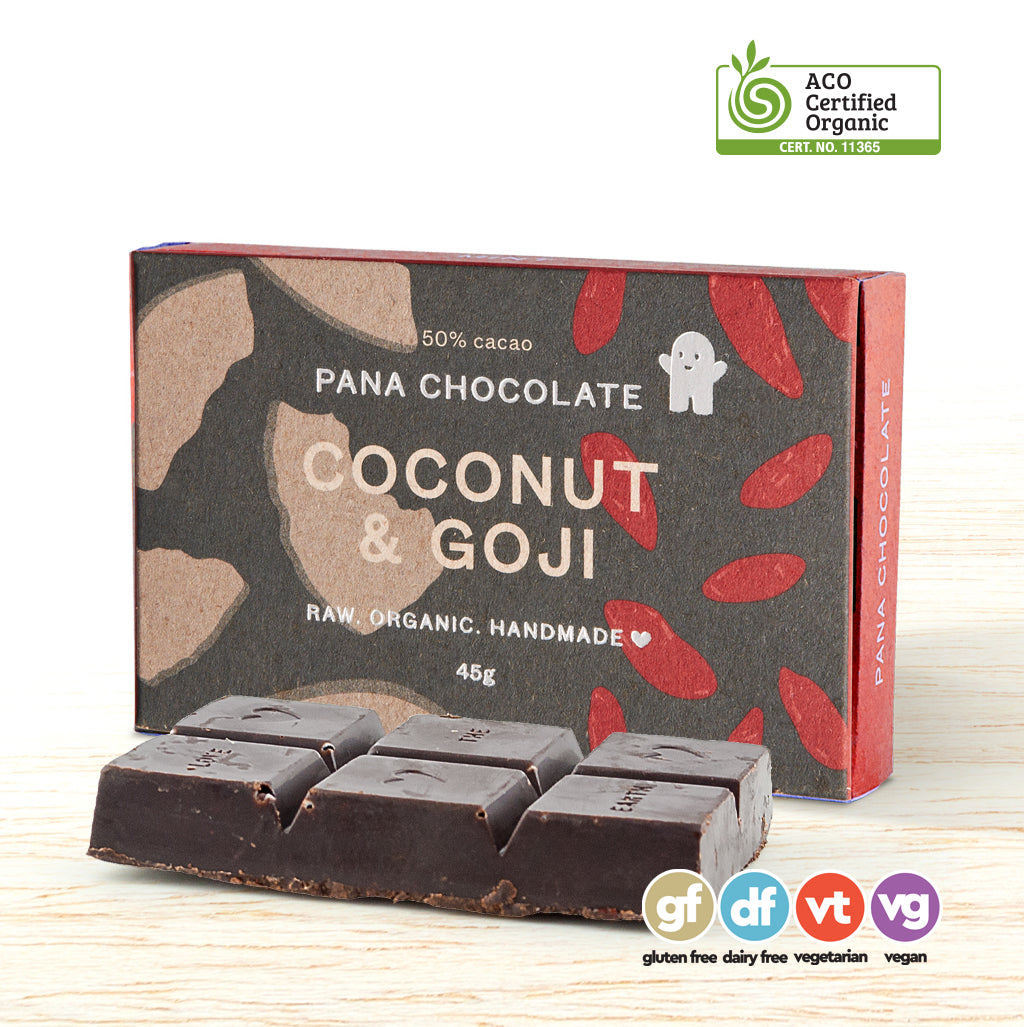 Pana Organic Raw Chocolate - Coconut & Goji Berry