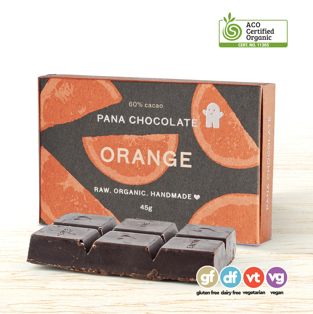 Pana Organic Raw Chocolate - Orange