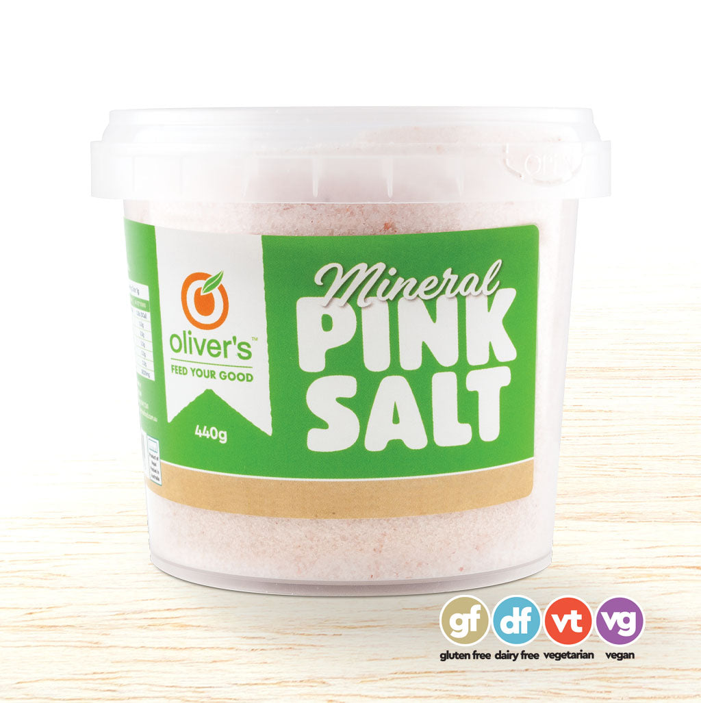 Oliver's Mineral Pink Salt - Organic Food Delivered - Oliver's Real Food