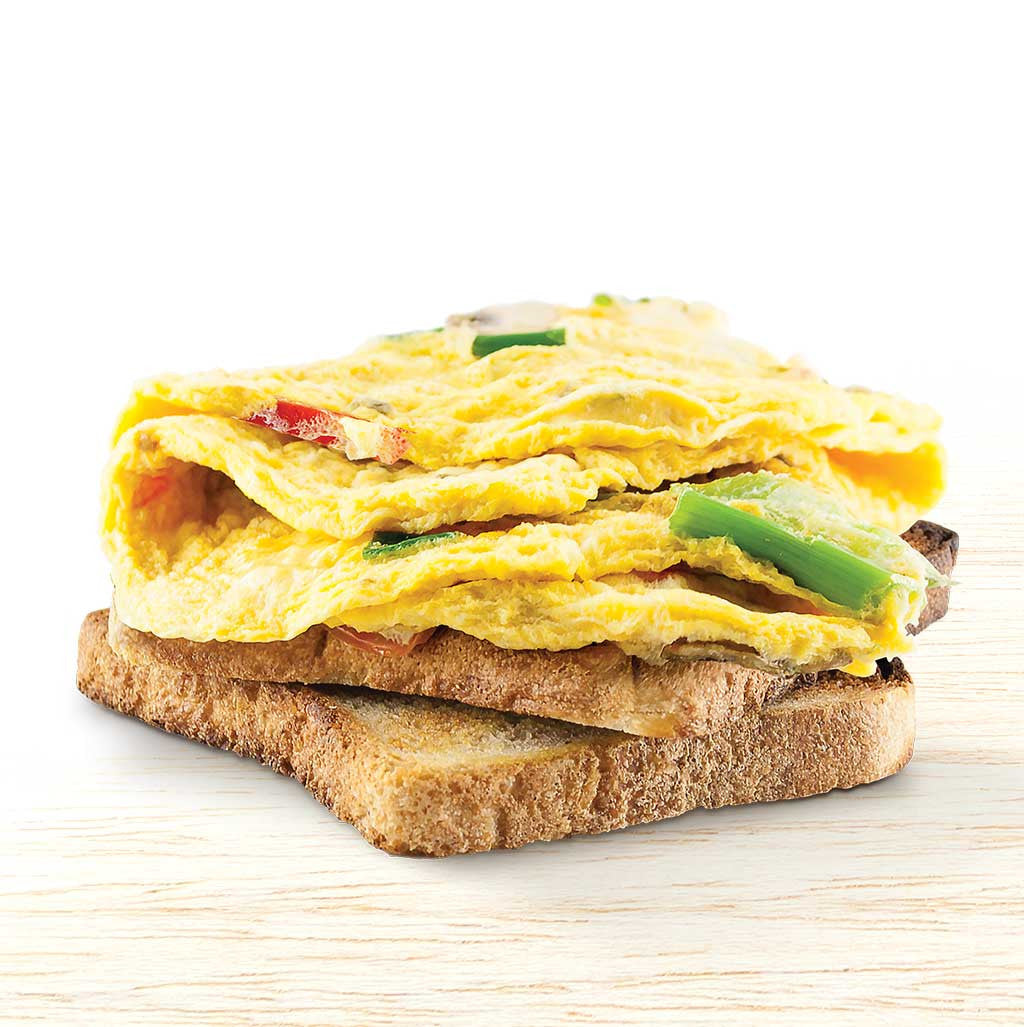 Omelette on Toasted Sourdough - Organic Food Delivered - Oliver's Real Food