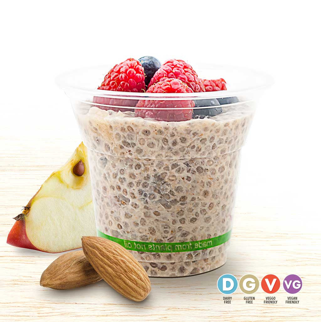 Apple & Almond Chia Cup - Organic Food Delivered - Oliver's Real Food