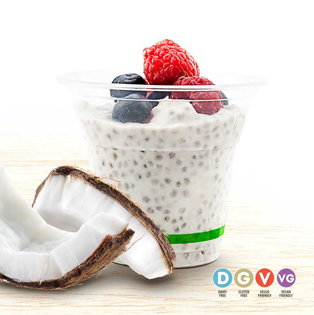Coconut Chia Cup - Organic Food Delivered - Oliver's Real Food