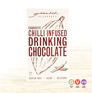 Grounded Pleasures Drinking Chocolate - Chilli Infused - Organic Food Delivered - Oliver's Real Food