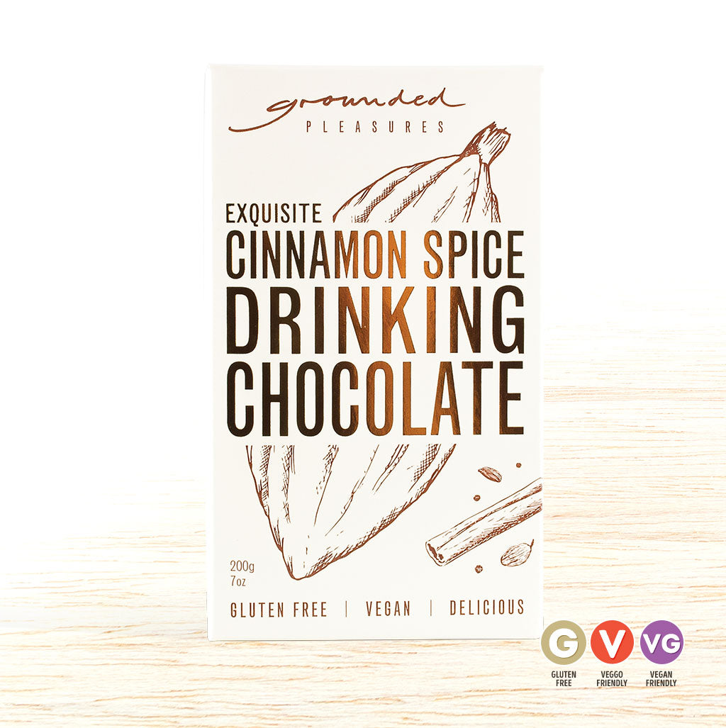 Grounded Pleasures Drinking Chocolate - Cinnamon Spice - Organic Food Delivered - Oliver's Real Food